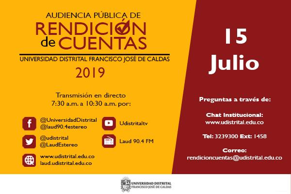 Participa en la rendición de cuentas 2019 de la Universidad Distrital
