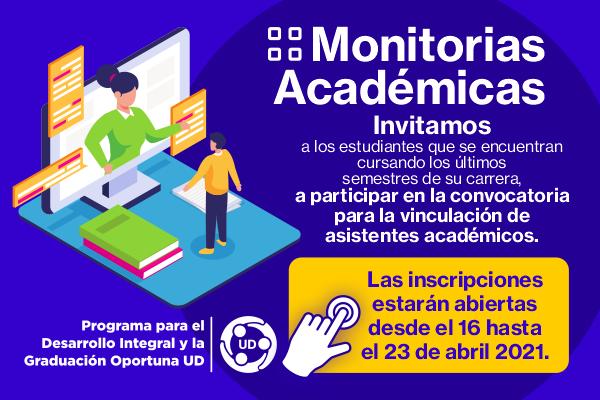 Participa en la convocatoria de monitores en la modalidad de asistente académico