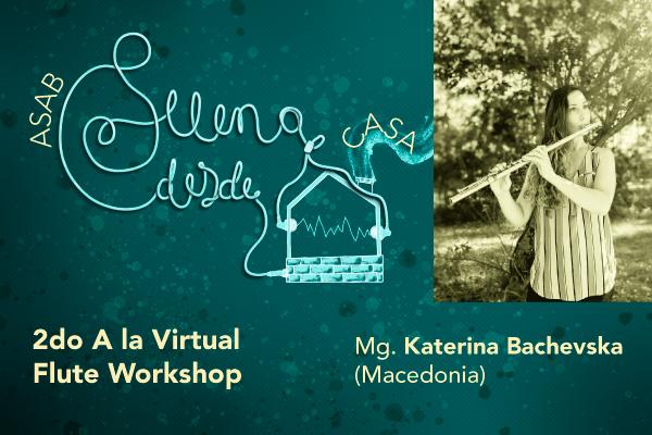Imagen noticia: Con invitada de Macedonia inicia el 2do 'A la Virtual Flute Workshop'