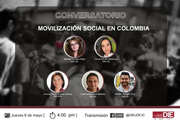 Participa en el Conversatorio Movilización Social en Colombia