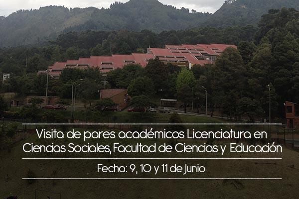 Licenciatura en Ciencias Sociales recibirá visita de pares académicos