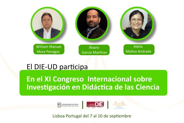 Profesores del DIE-UD participan en congreso internacional de investigación