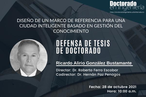 Este 28 de octubre, jornada de defensa de tesis doctoral