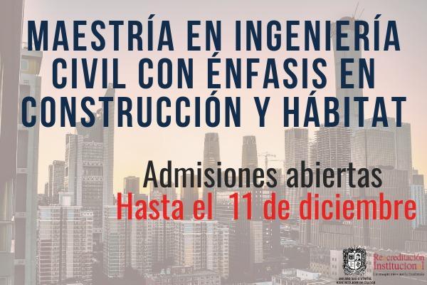 Imagen evento Conviértete en Magíster en Ingeniería Civil de la Universidad Distrital