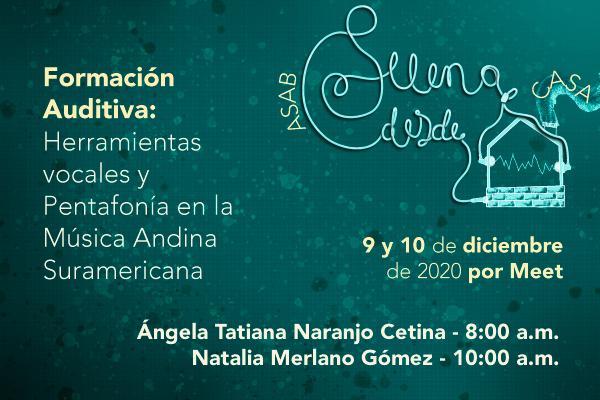Imagen evento Invitados a las charlas sobre Formación Auditiva en la Música Andina Suramericana