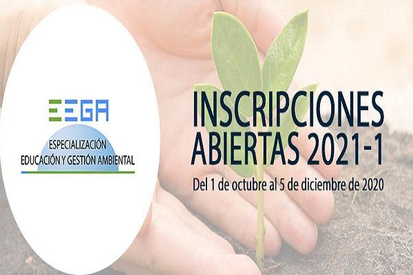 Imagen evento Abiertas inscripciones para la Especialización en Educación y Gestión Ambiental período académico 2021-1