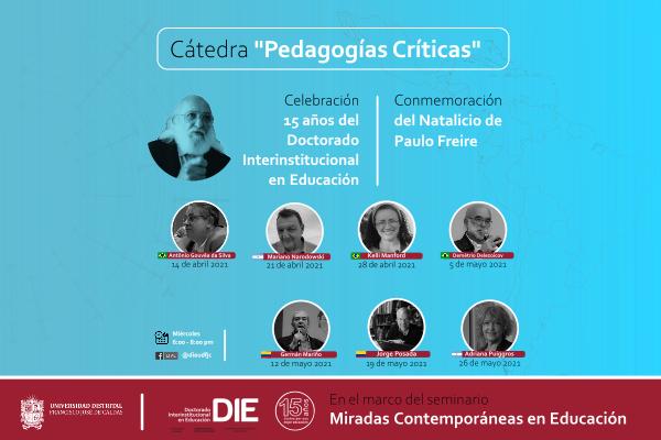 Imagen evento Cátedra 'Pedagogías críticas', conmemoración del Natalicio de PAULO FREIRE