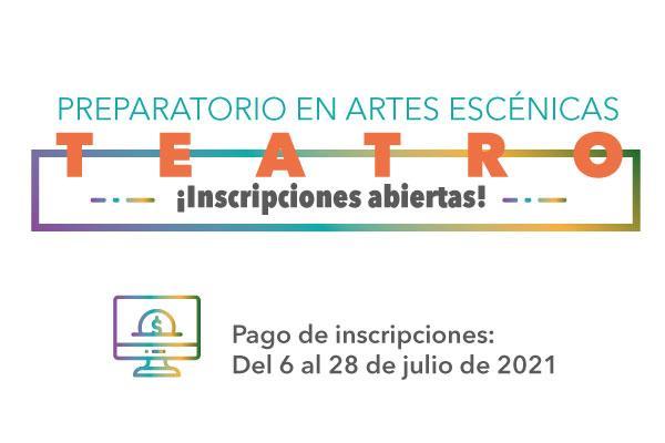 Imagen evento Preparatorio de Artes Escénicas tiene abiertas sus inscripciones 2021-3