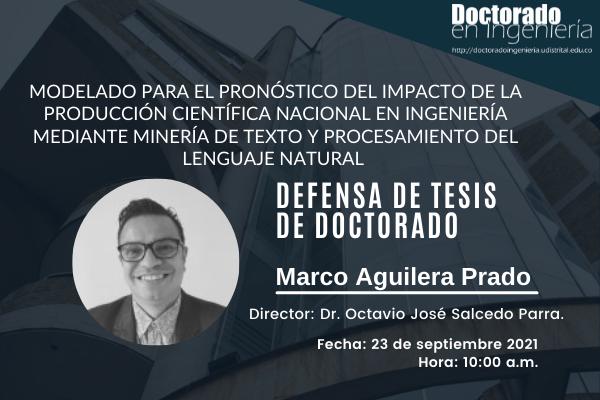 Imagen evento Jornada académica de defensa de tesis doctoral