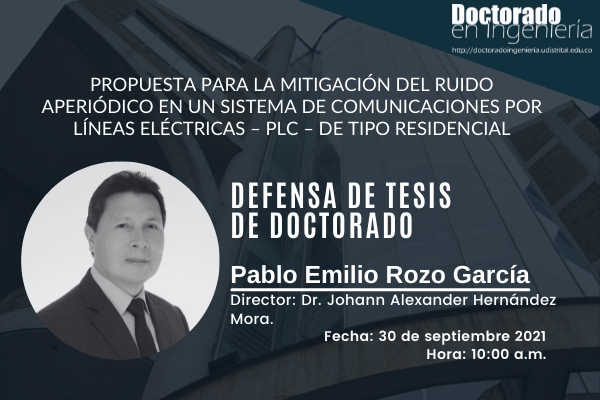 Imagen evento El próximo 30 de septiembre, jornada de defensa de tesis doctoral