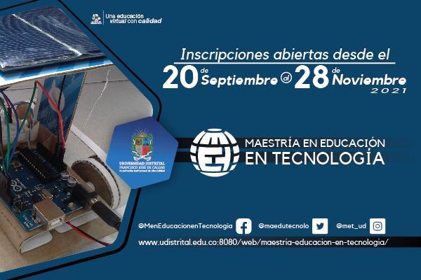 Imagen evento Inscríbete a la Maestría en Educación en Tecnología