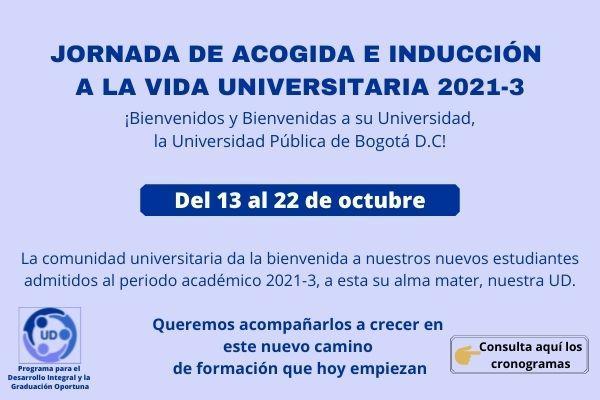 Imagen evento Jornada de acogida e inducción a la vida universitaria 2021-3