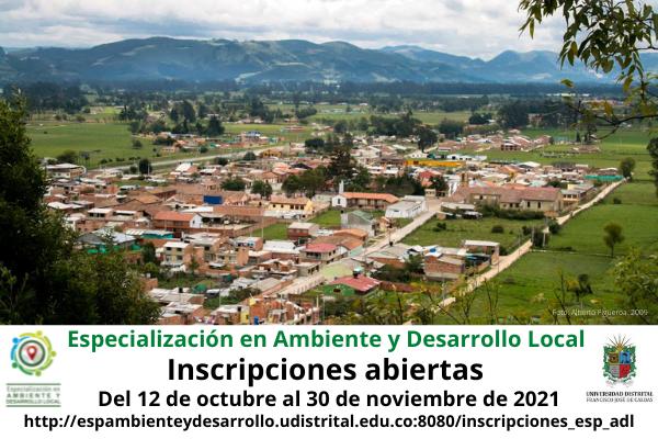 Imagen evento Inscripciones abiertas para la Especialización en Ambiente y Desarrollo Local