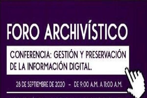 Imagen noticia: Te esperamos este 28 de septiembre en el Foro Archivístico