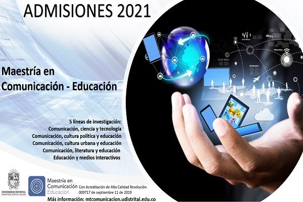 Imagen noticia: Abiertas inscripciones para la Maestría en Comunicación – Educación 2021