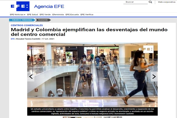 Imagen noticia: Agencia EFE evidencia investigaciones en conjunto entre la UD y la Universidad Castilla la Mancha