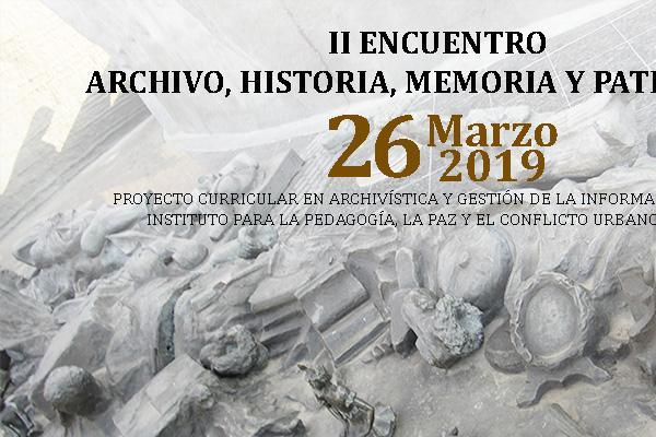 Imagen publicación: II Encuentro en Archivo, Historia, Memoria y Patrimonio