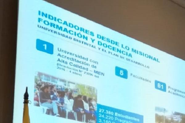 Imagen publicación: U.Distrital rindió cuentas en el sector educativo de Bogotá