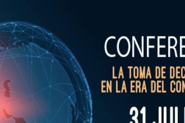 Imagen publicación: No te quedes sin participar de la conferencia La toma de decisiones en la era del conocimiento