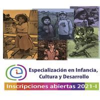 Imagen evento Abiertas inscripciones para la Especialización en Infancia, Cultura y Desarrollo